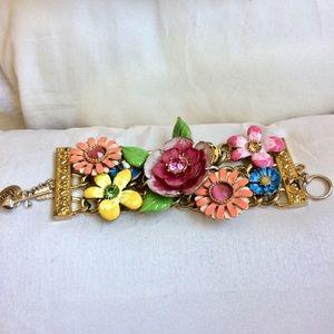 Betsy Johnson flower bracelet